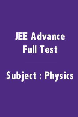 JEE Advance Physics  Full Test