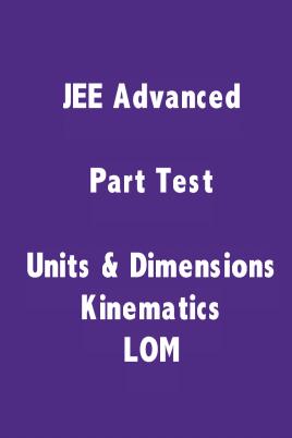 JEE Advanced Physics Part Test